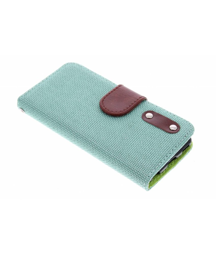 Groen linnen look TPU booktype iPod Touch 5g / 6