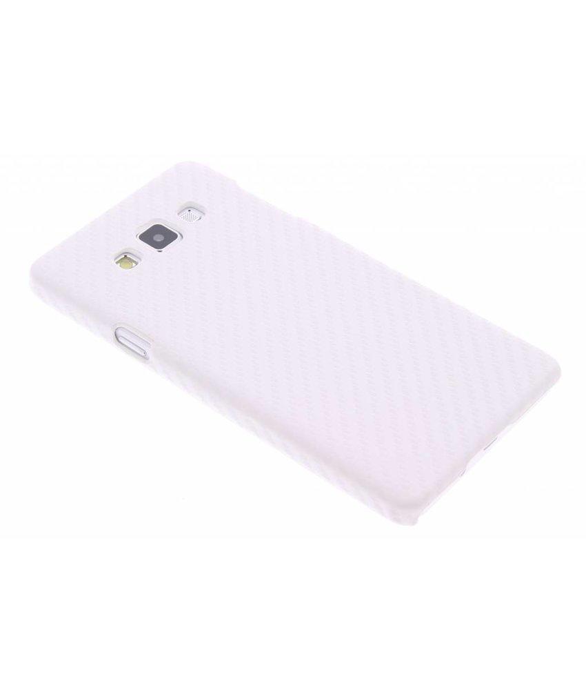 Wit carbon look hardcase Samsung Galaxy A7