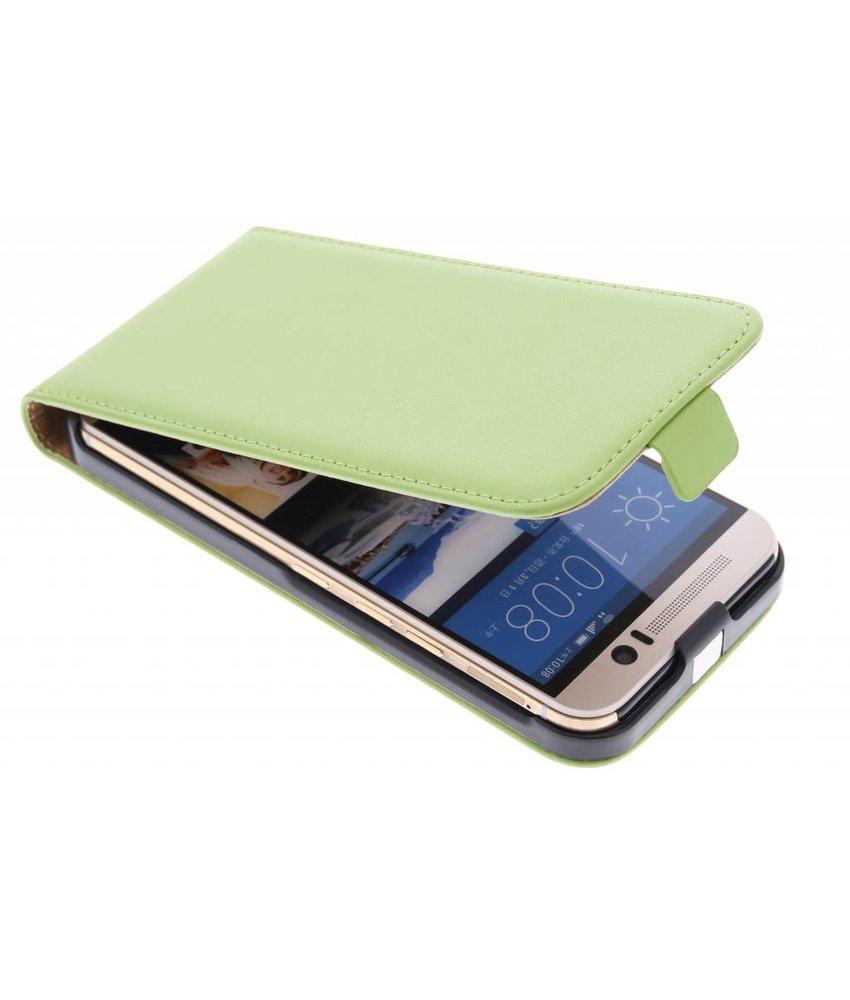 Groen luxe flipcase HTC One M9