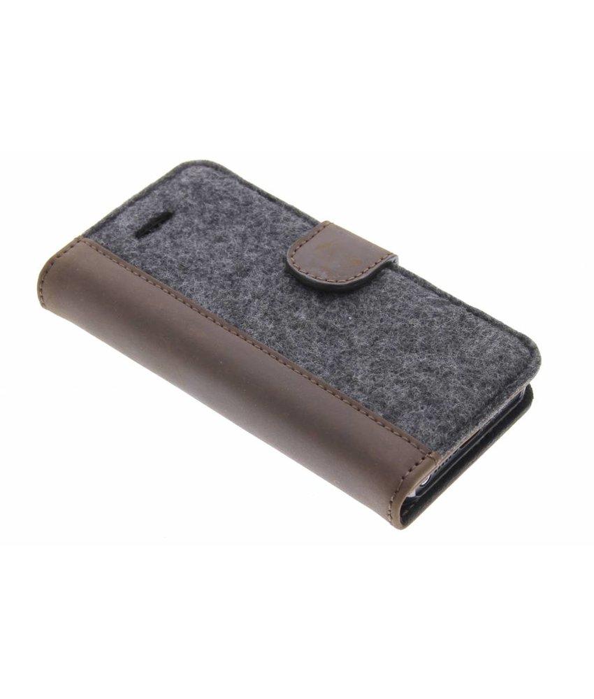 Valenta Booklet Raw iPhone 5 / 5s / SE - Vintage Brown