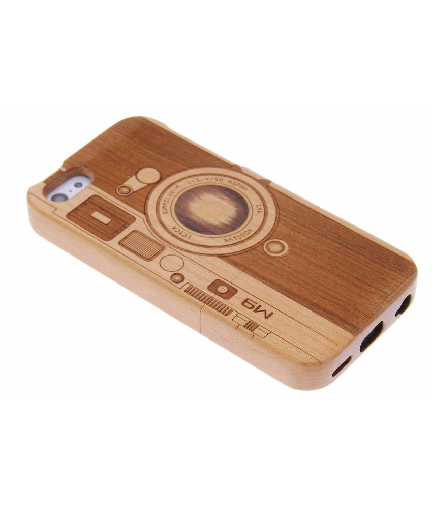 Echt houten hardcase hoesje met print iPhone 5c