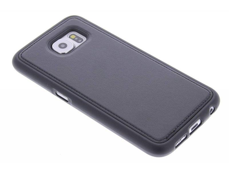 Cuir Noir Tpu Cas Pour Samsung Galaxy S6 GmwzJfFUou