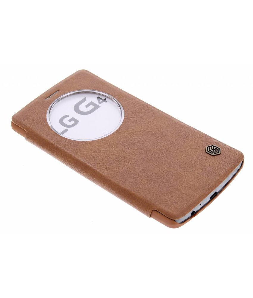Nillkin Qin Leather slim booktype met venster LG G4