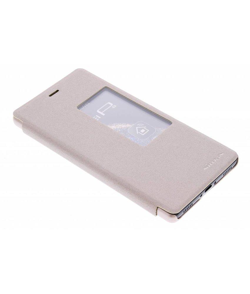 Nillkin Sparkle slim booktype met venster Huawei P8 - Goud