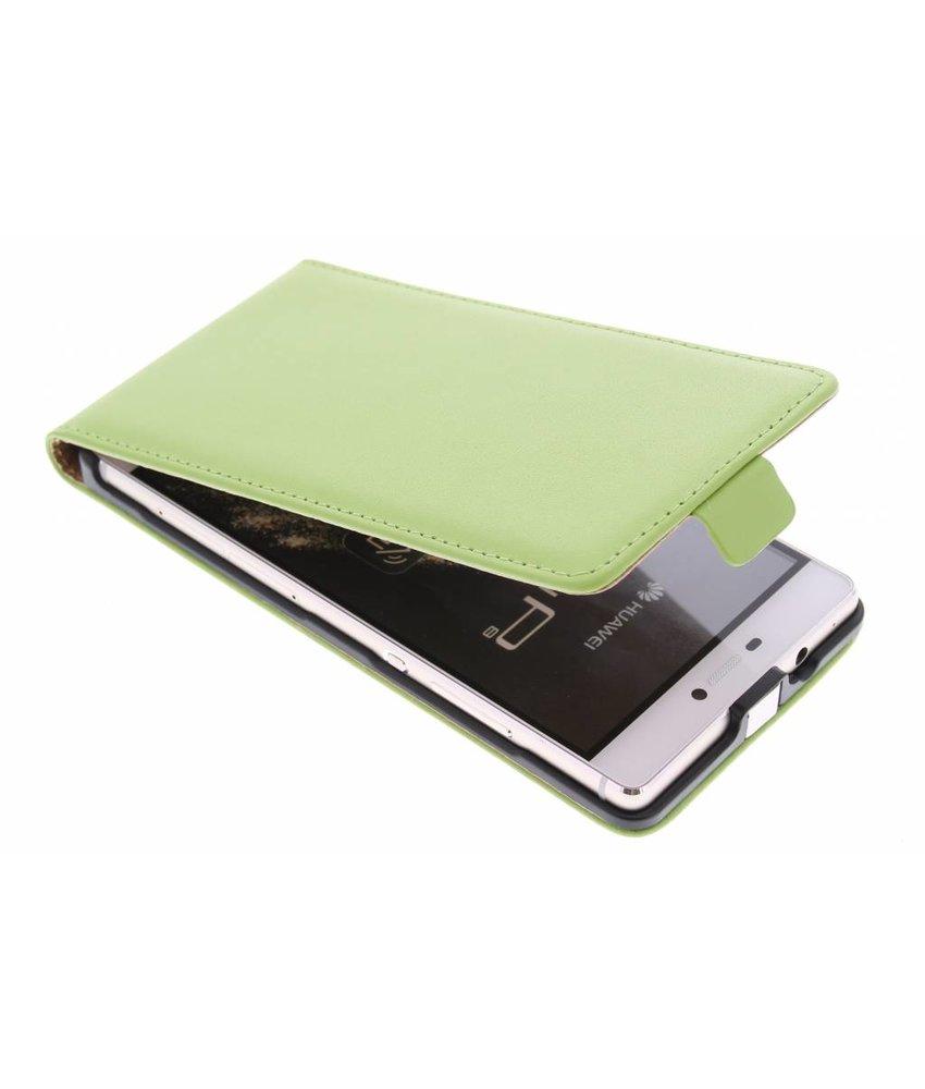 Groen luxe flipcase Huawei P8