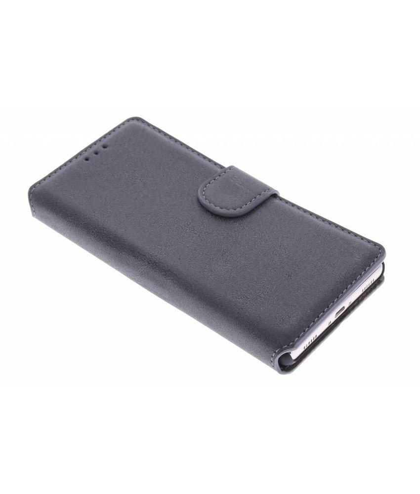 Grijs suède look booktype hoes Huawei P8