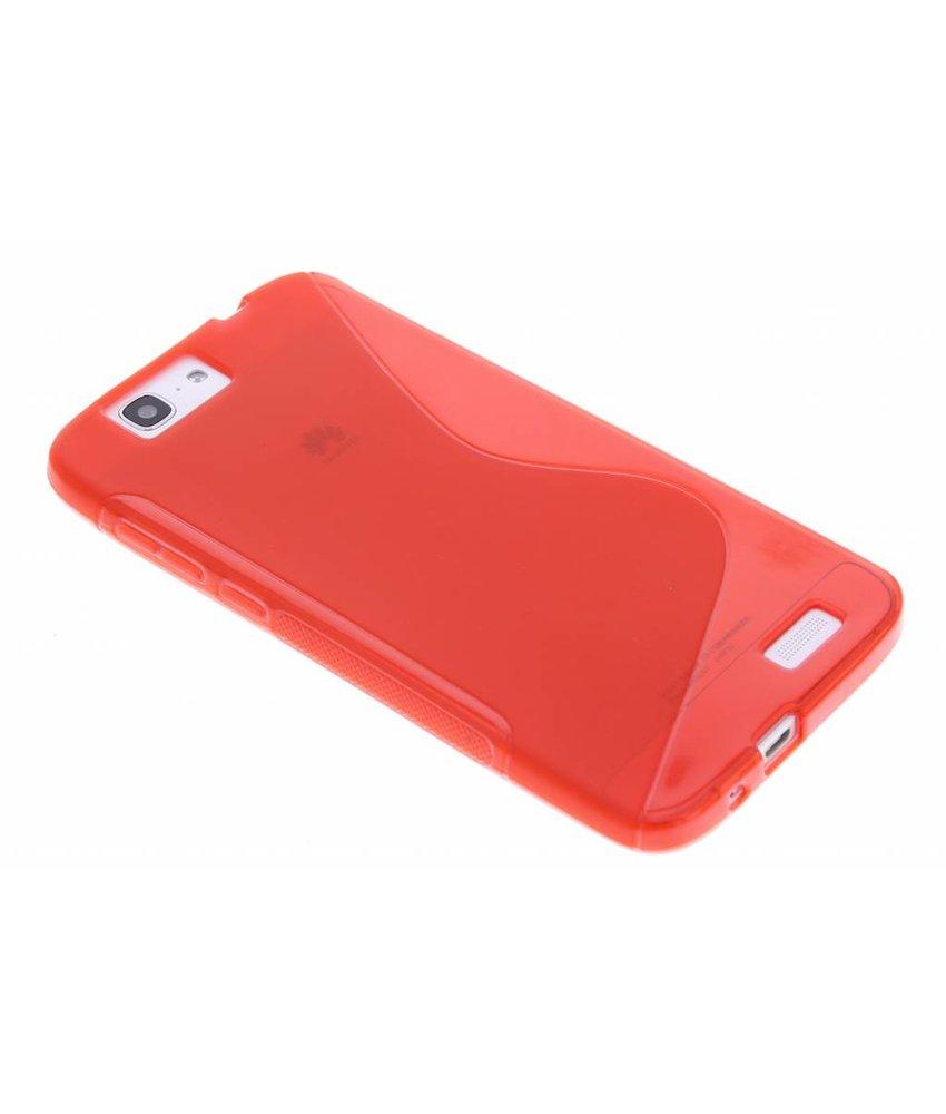 Rood S-line TPU hoesje Huawei Ascend G7