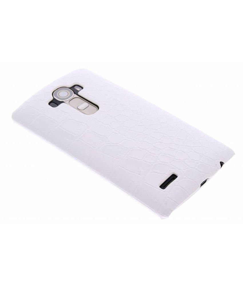 Wit krokodil hardcase hoesje LG G4