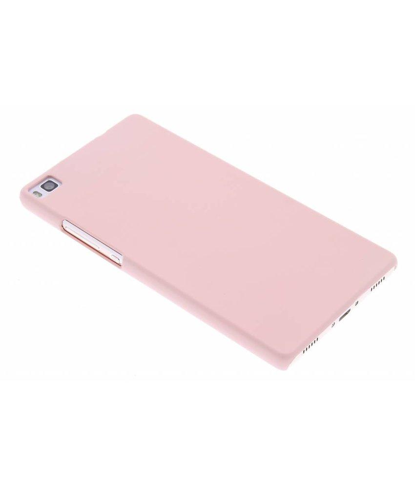 Poederroze pastel hardcase hoesje Huawei P8