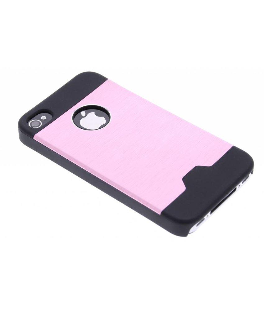 Roze brushed aluminium hardcase iPhone 4 / 4s