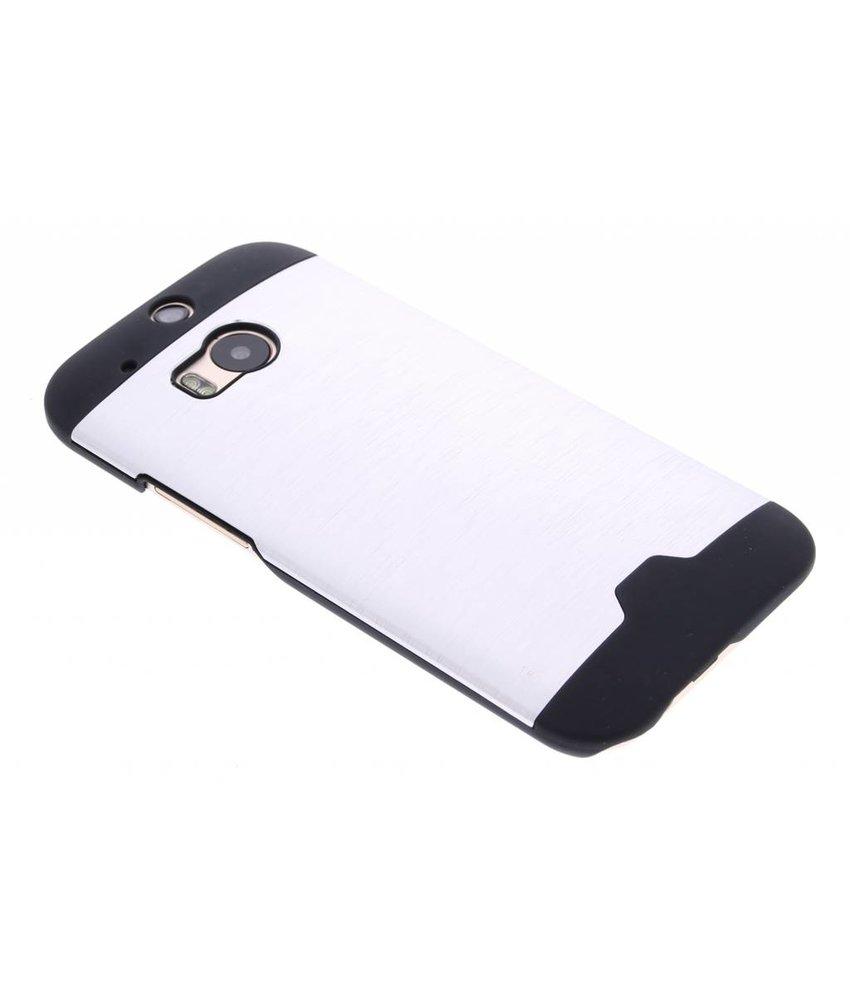 Zilver brushed aluminium hardcase HTC One M8 / M8s
