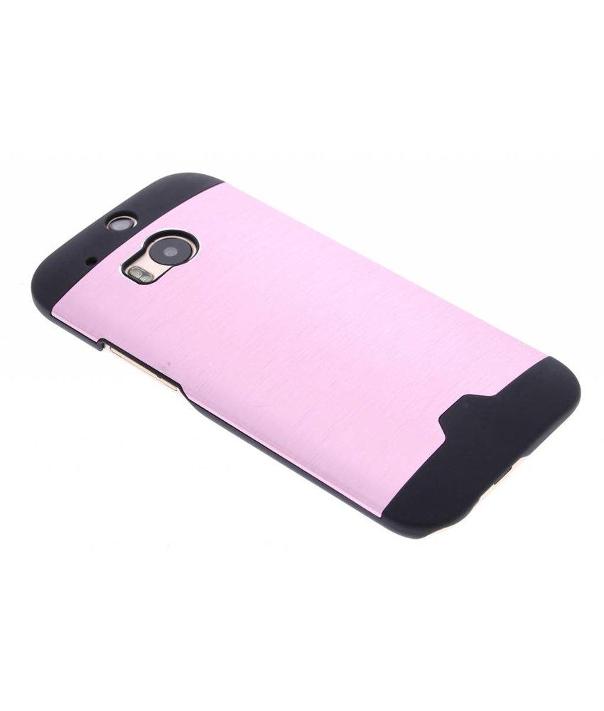 Roze brushed aluminium hardcase HTC One M8 / M8s