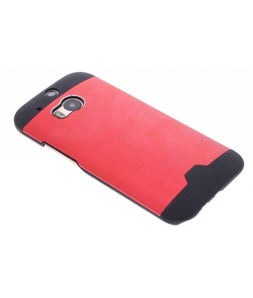 Rood brushed aluminium hardcase HTC One M8 / M8s