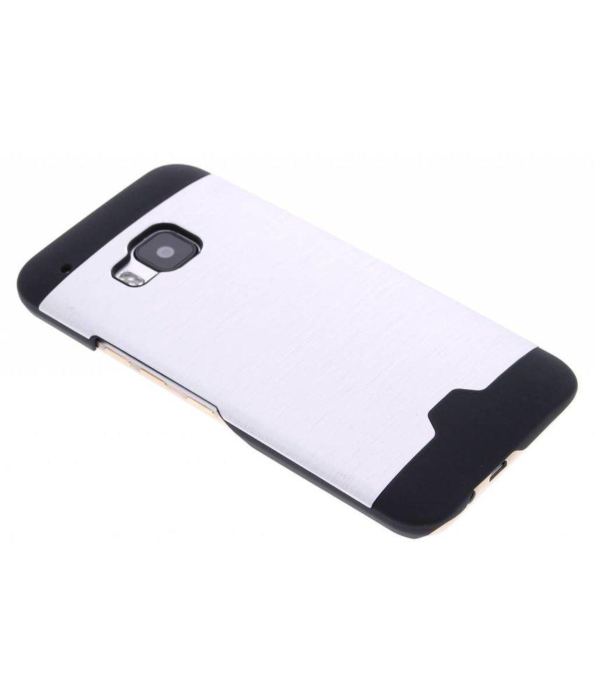 Zilver brushed aluminium hardcase HTC One M9