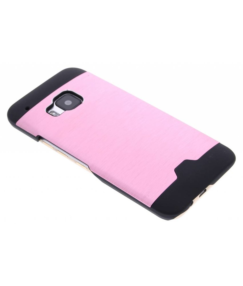 Roze brushed aluminium hardcase HTC One M9