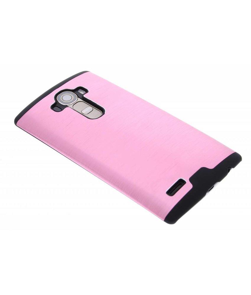 Roze brushed aluminium hardcase LG G4