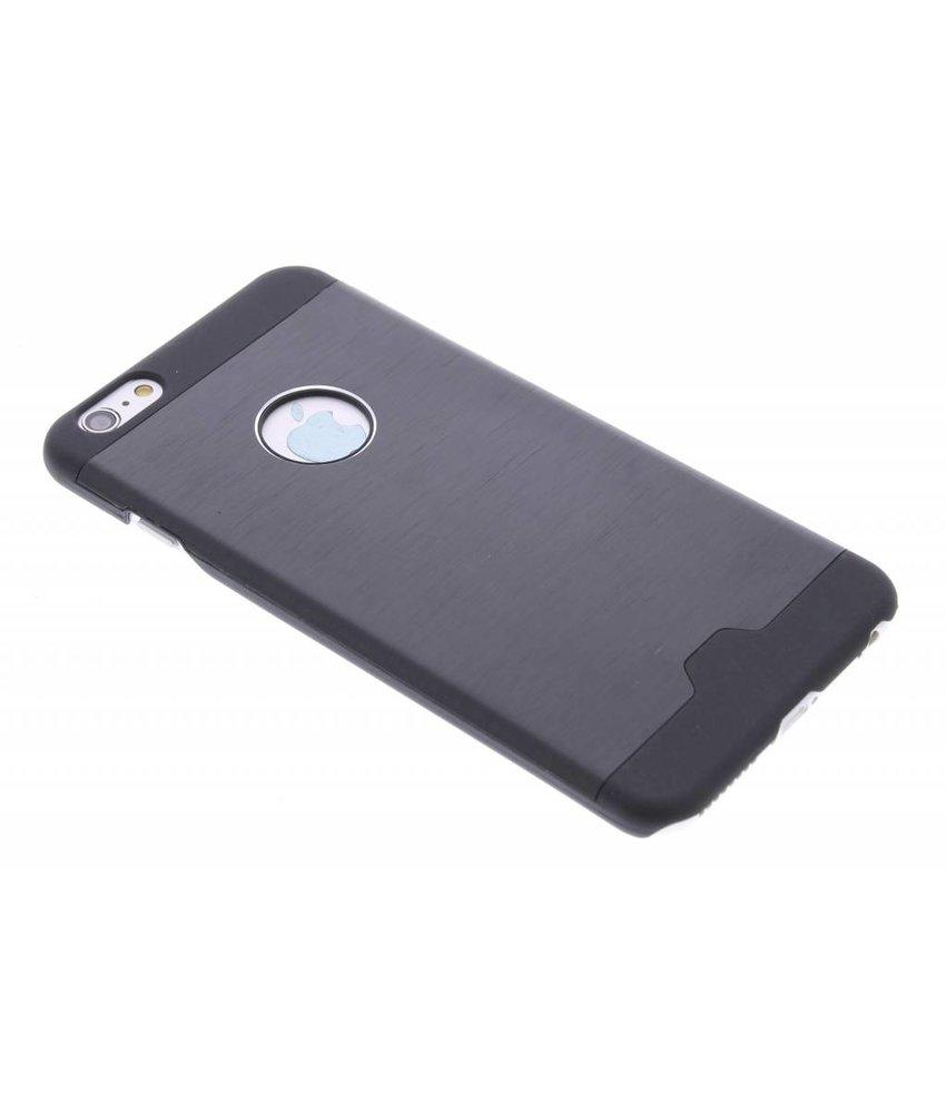Zwart brushed aluminium hardcase hoesje iPhone 6(s) Plus