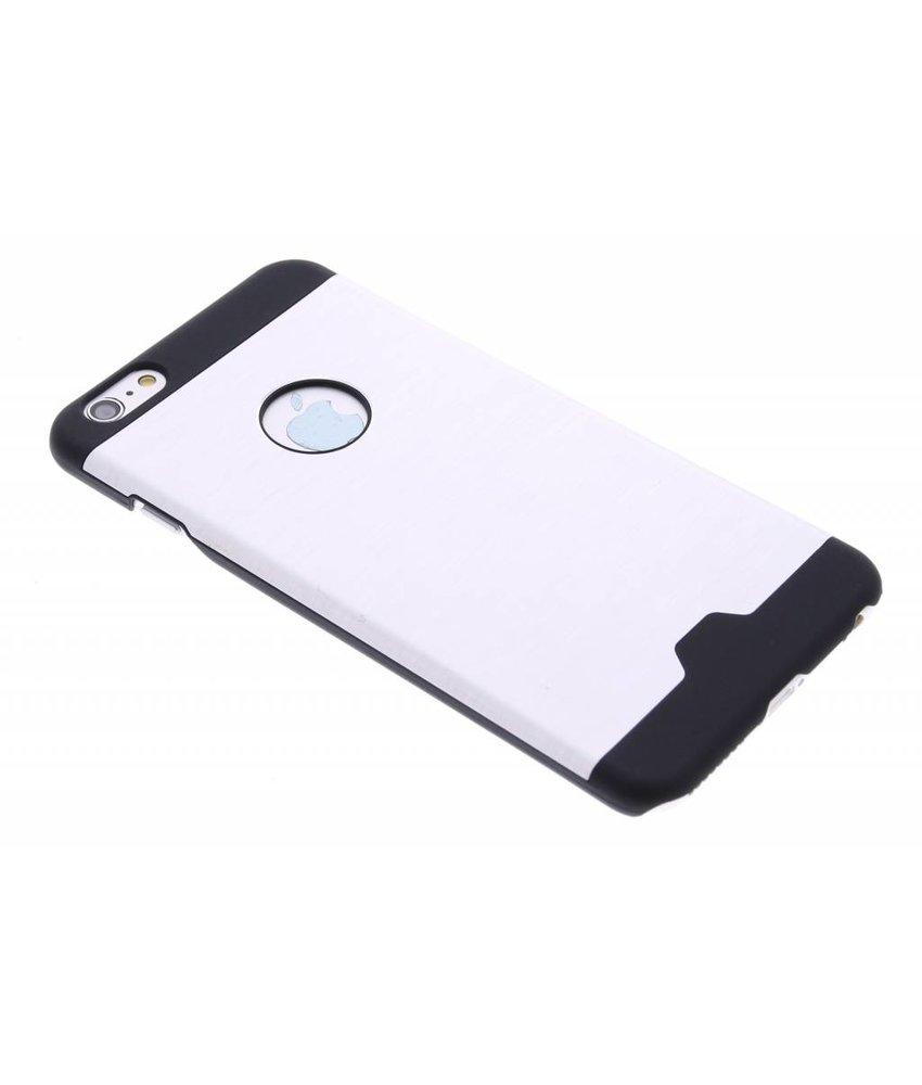 Zilver brushed aluminium hardcase hoesje iPhone 6(s) Plus