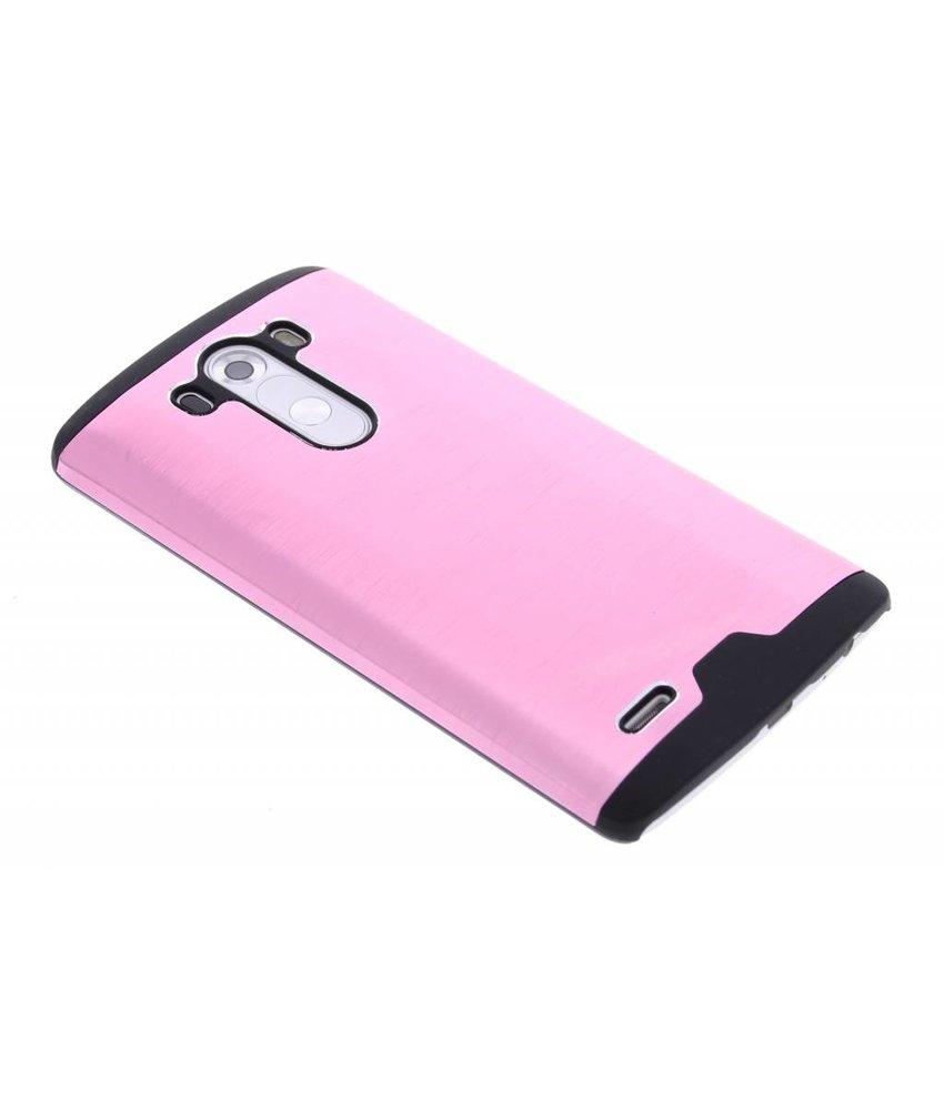 Roze brushed aluminium hardcase LG G3