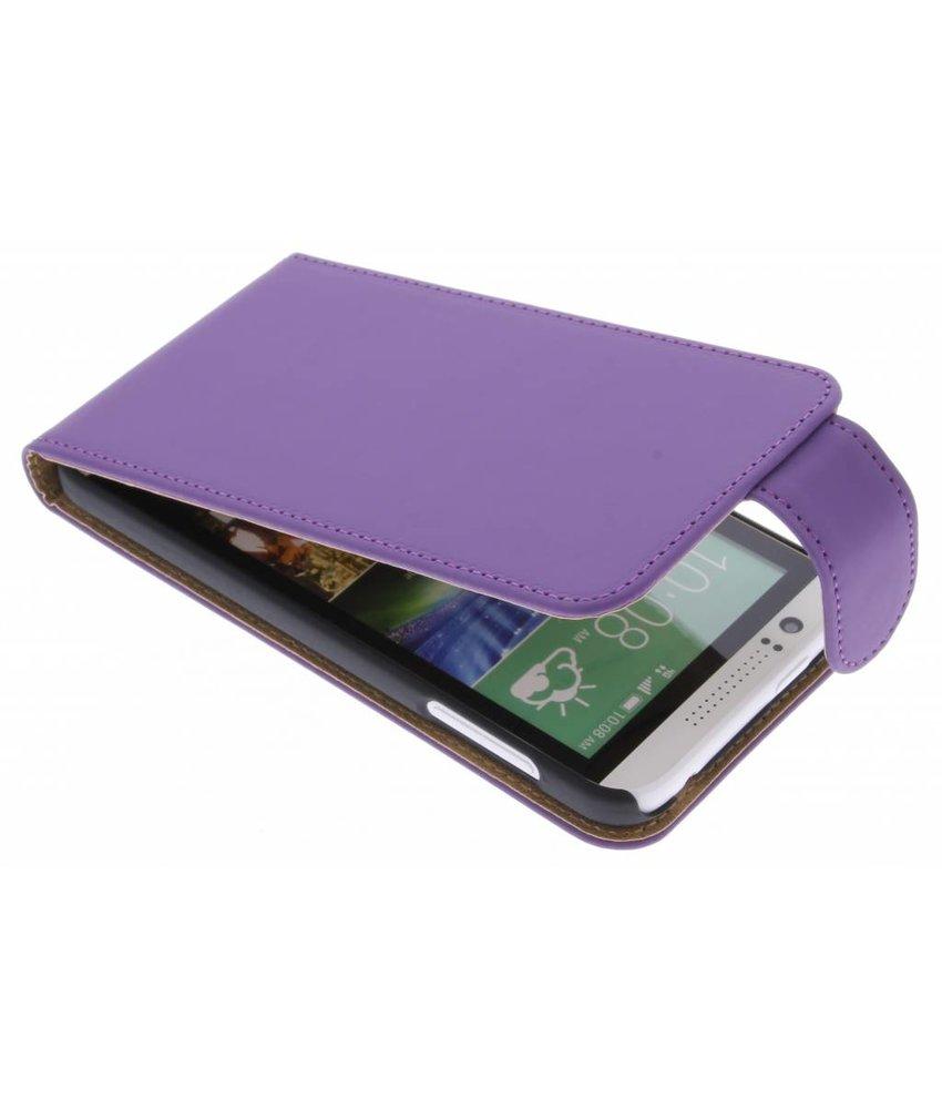 Paars classic flipcase HTC Desire 510