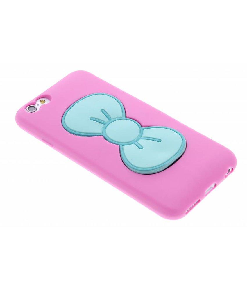 Roze click strik TPU siliconen hoesje iPhone 6 / 6s