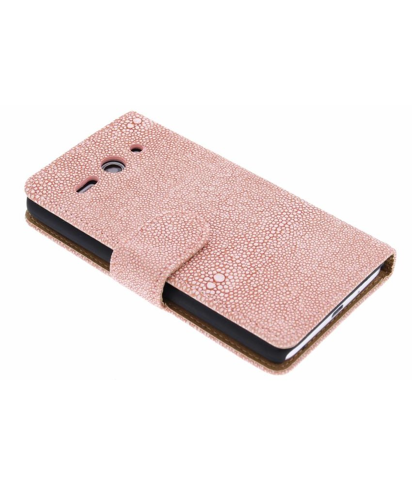 Glanzende ribbelige booktype Huawei Ascend Y530