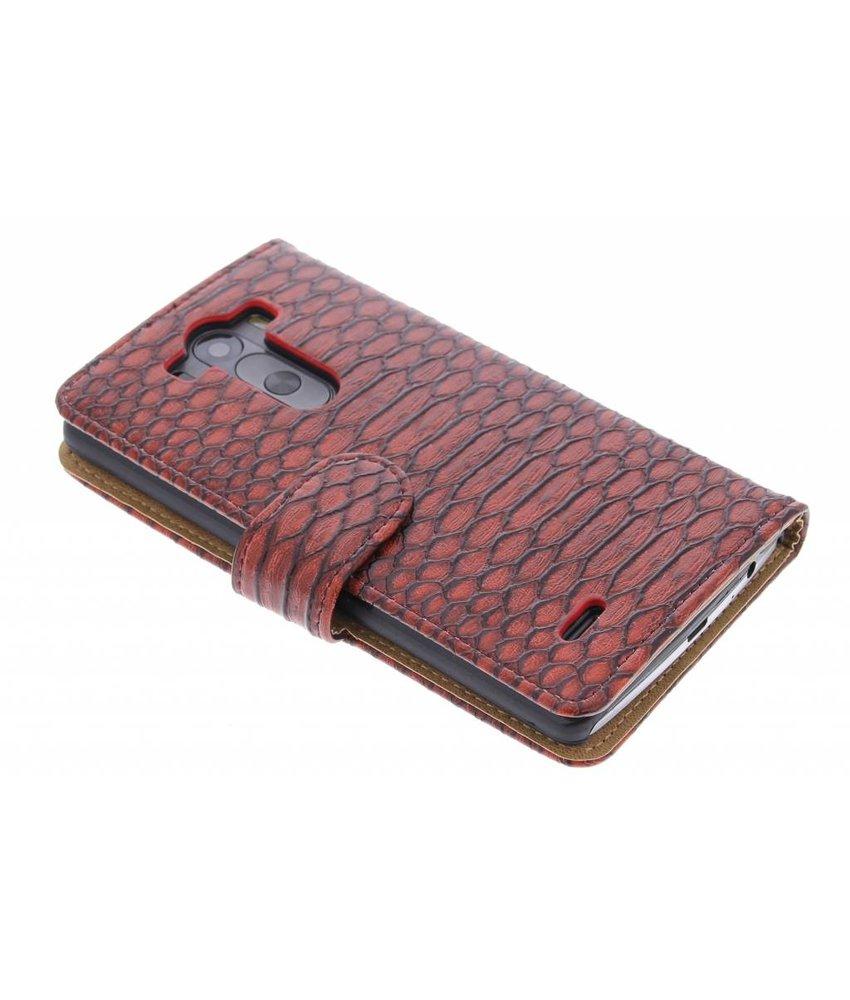 Rood slangen booktype hoes LG G3