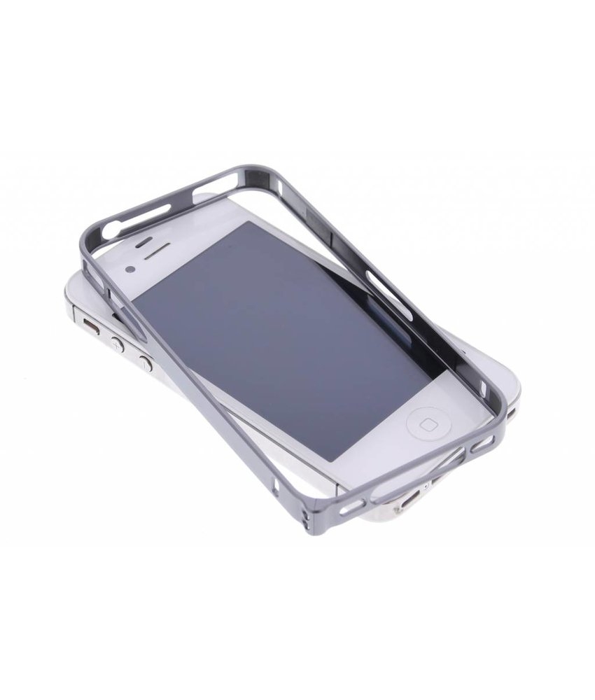 Grijs metalen bumper iPhone 4 / 4s
