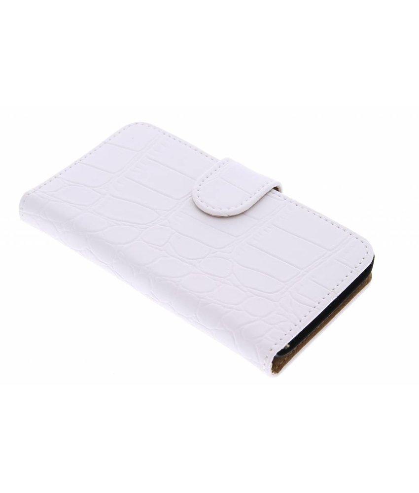 Wit krokodil booktype hoes Huawei Y360