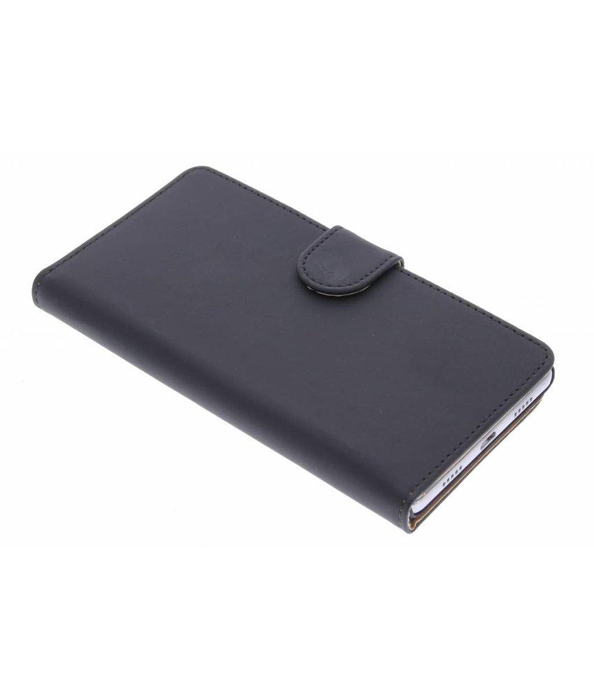 Zwart effen booktype hoes Huawei P8 Lite