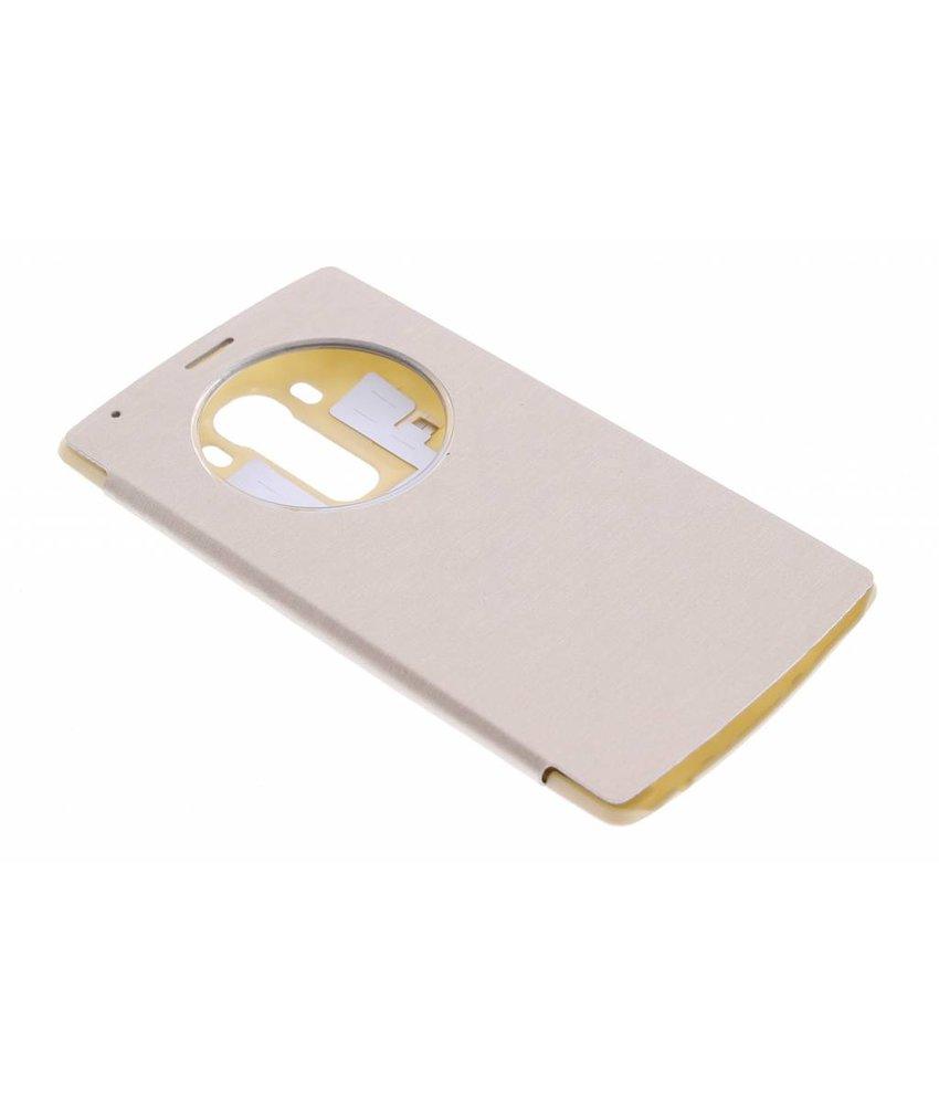 Goud flipcover met venster LG G4