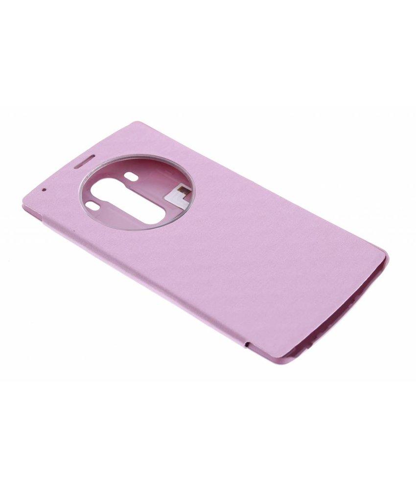 Roze flipcover met venster LG G4