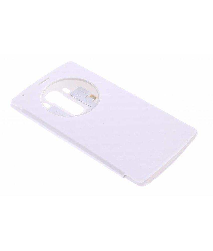 Wit flipcover met venster LG G4