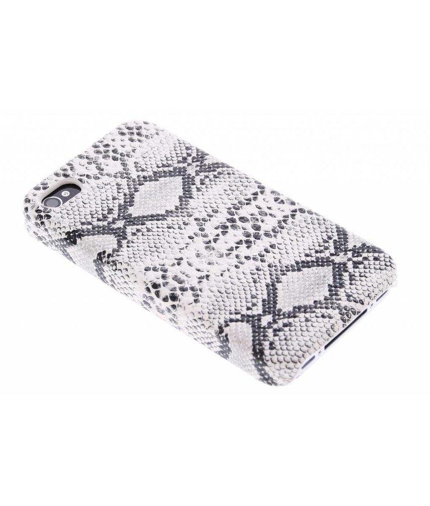 Wit slangen hardcase hoesje iPhone 4 / 4s
