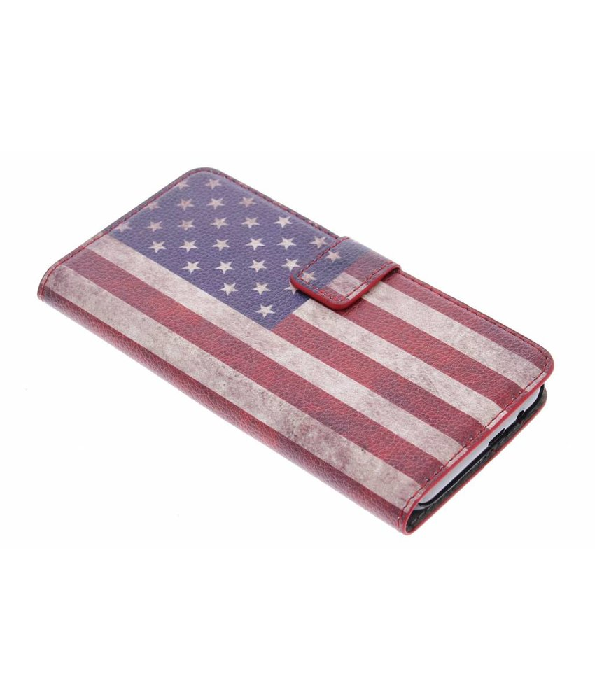 Vintage vlag booktype hoes HTC One M9