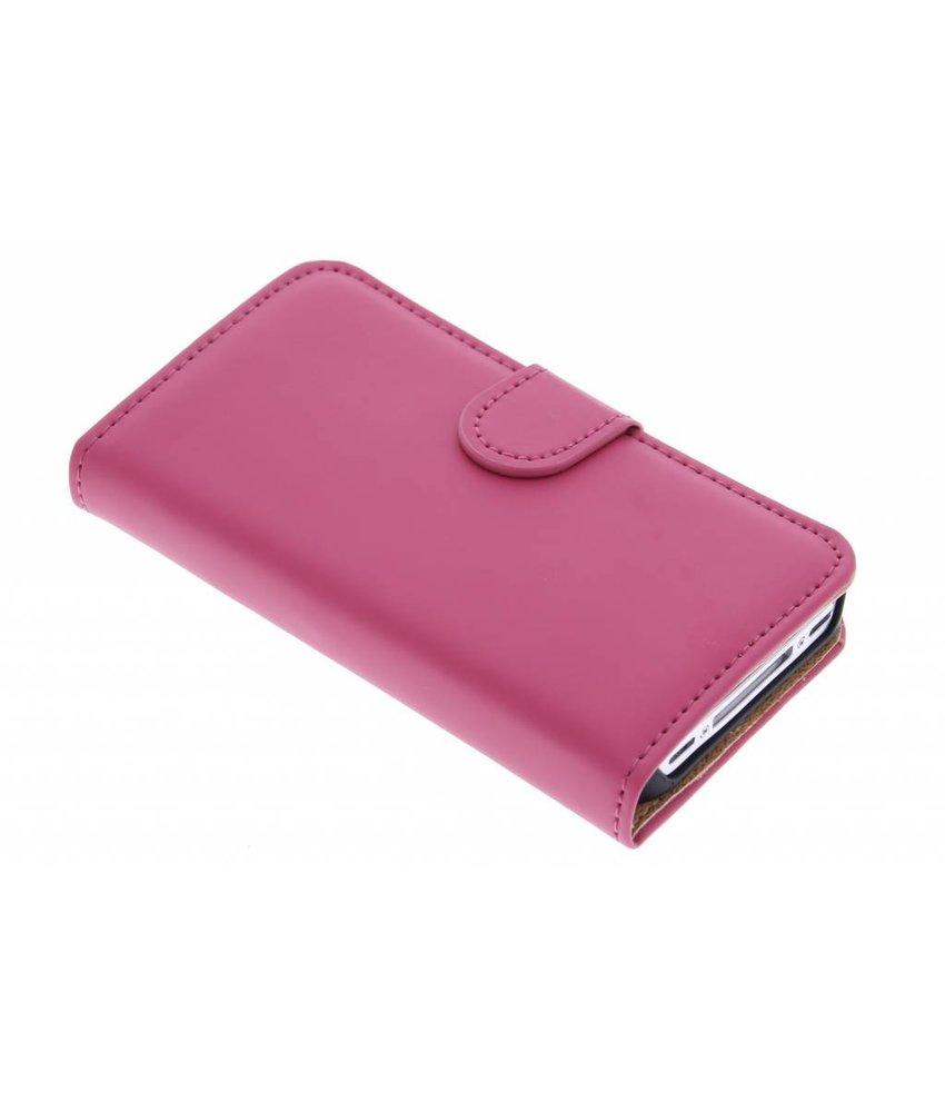 Selencia Luxe Book Case iPhone 4 / 4s - Fuchsia