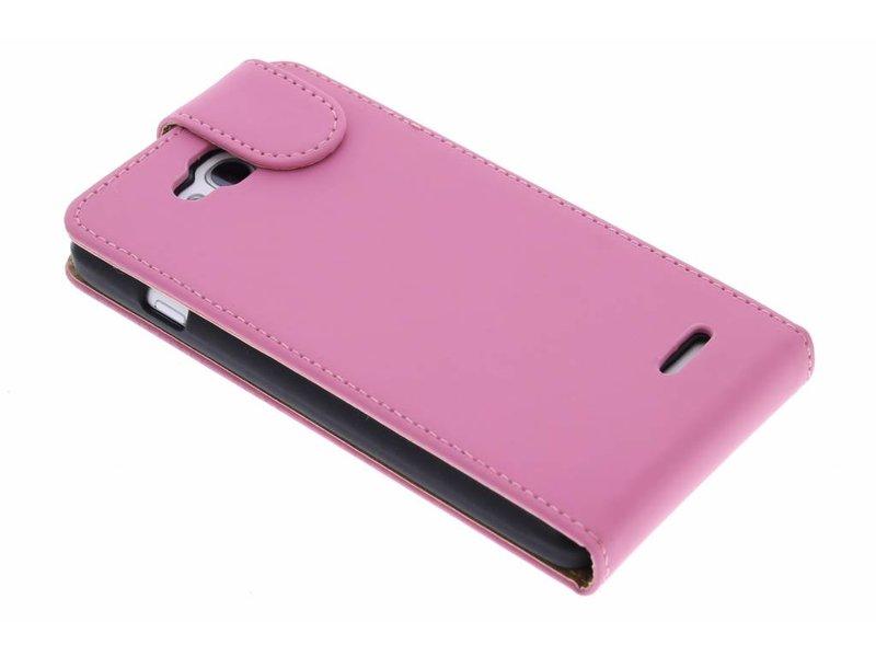 LG L90 hoesje - Roze classic flipcase voor