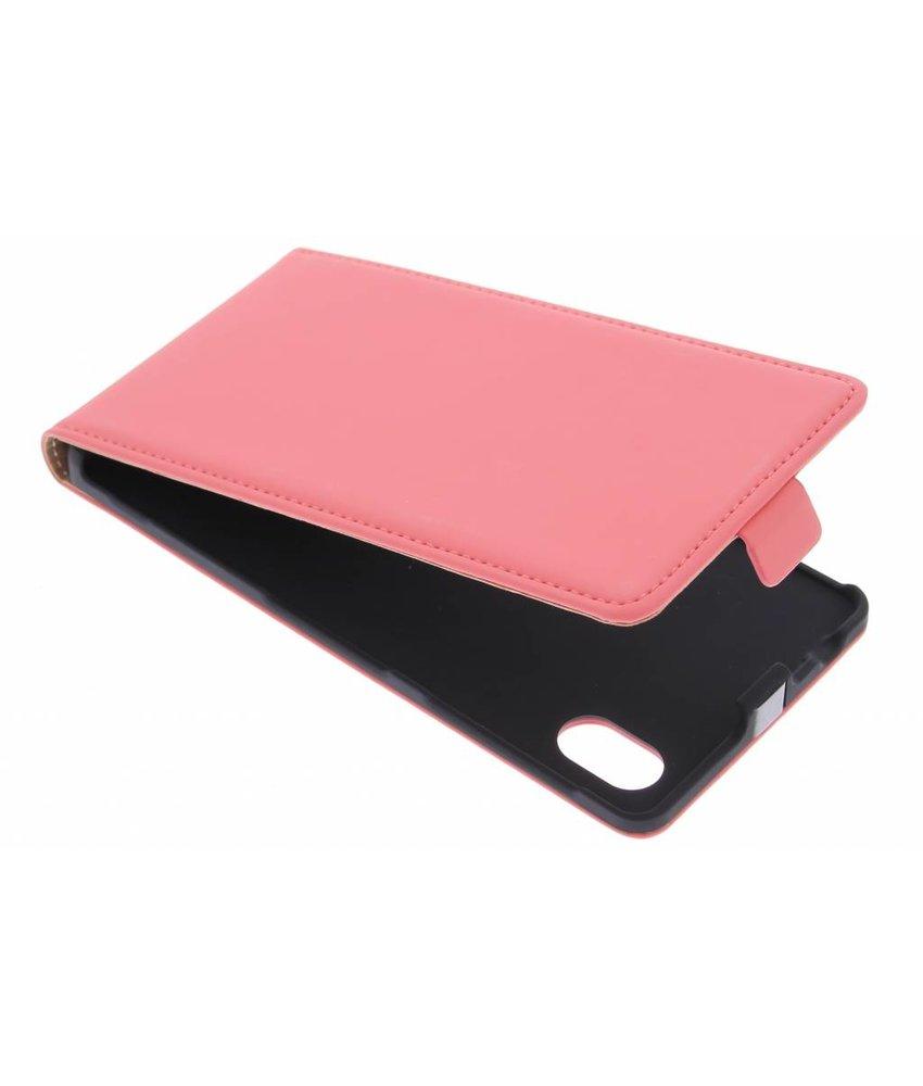 Mobiparts Premium Flipcase Sony Xperia M4 Aqua - Peach Pink
