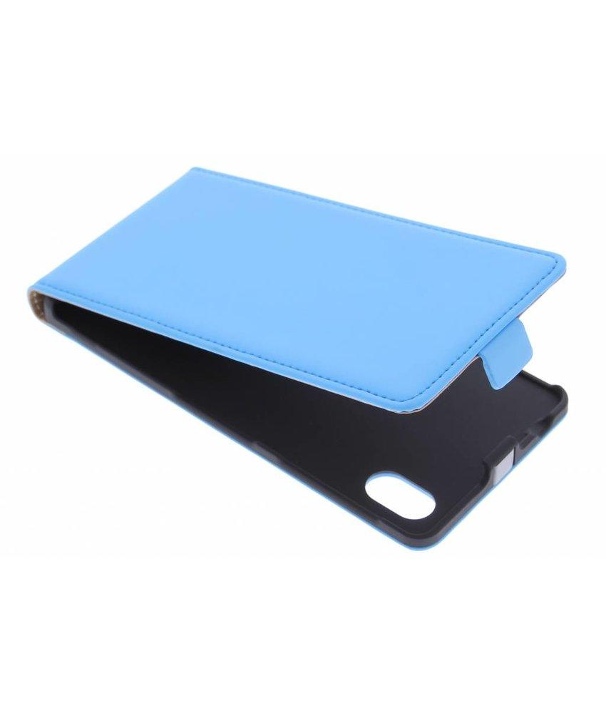 Mobiparts Premium Flipcase Sony Xperia M4 Aqua- Light Blue