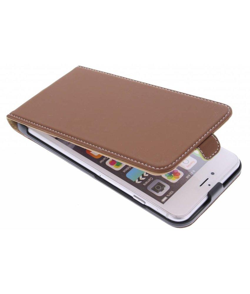 Muvit Slim flipcase iPhone 6(s) Plus - bruin