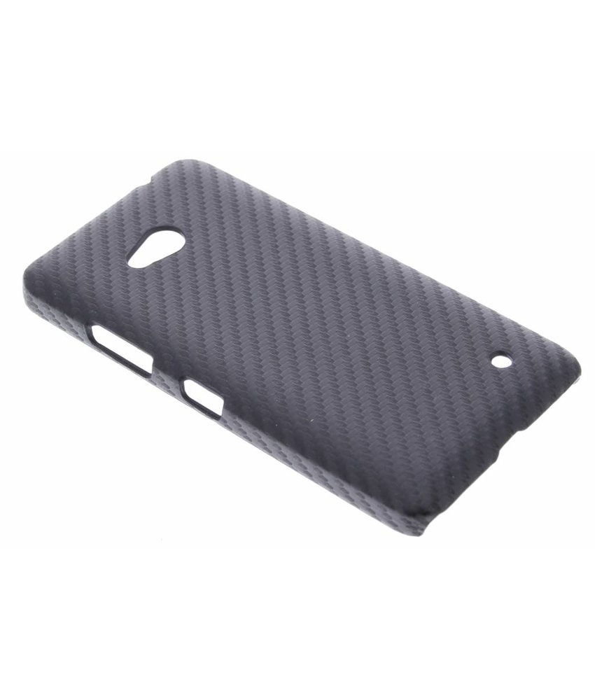 Zwart carbon look hardcase Microsoft Lumia 640