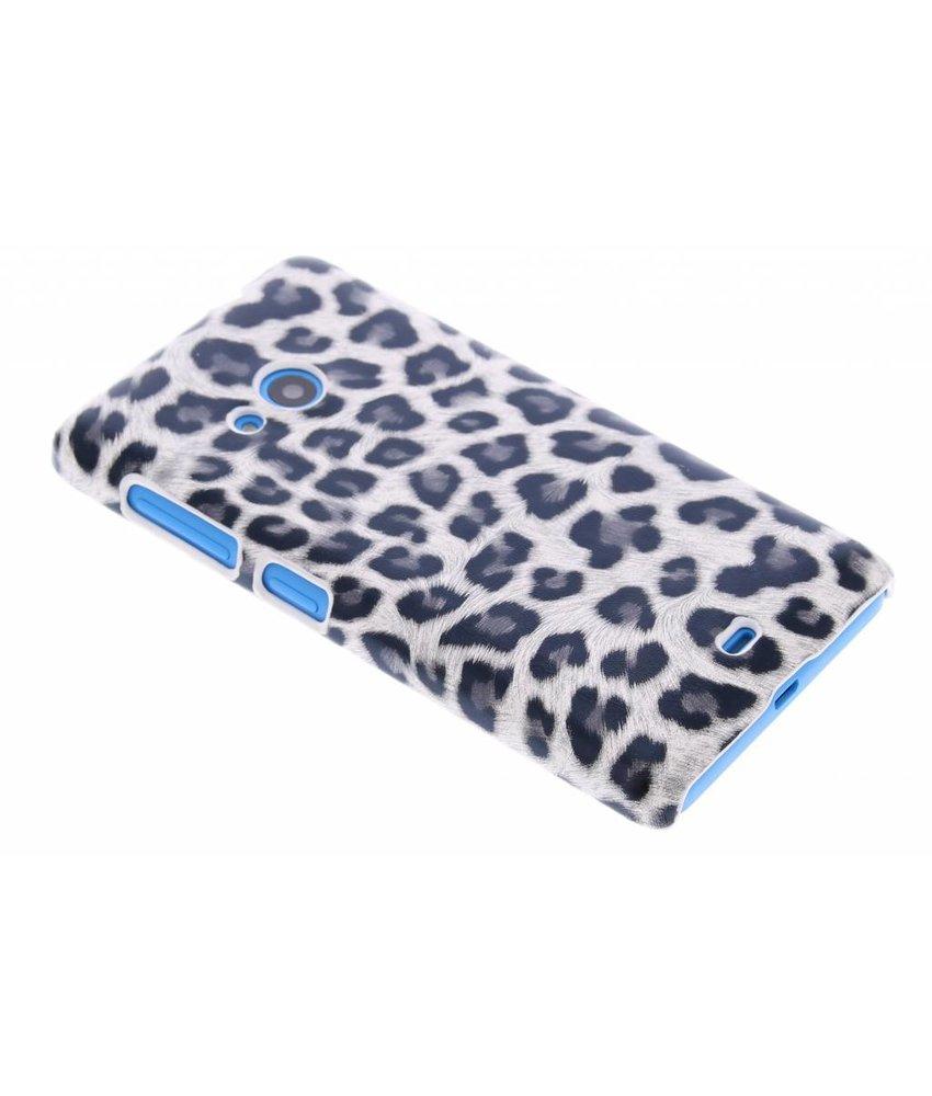 Grijs luipaard hardcase hoesje Microsoft Lumia 535