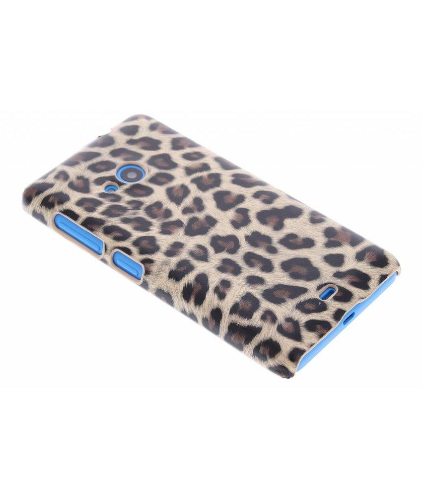 Bruin luipaard hardcase hoesje Microsoft Lumia 535