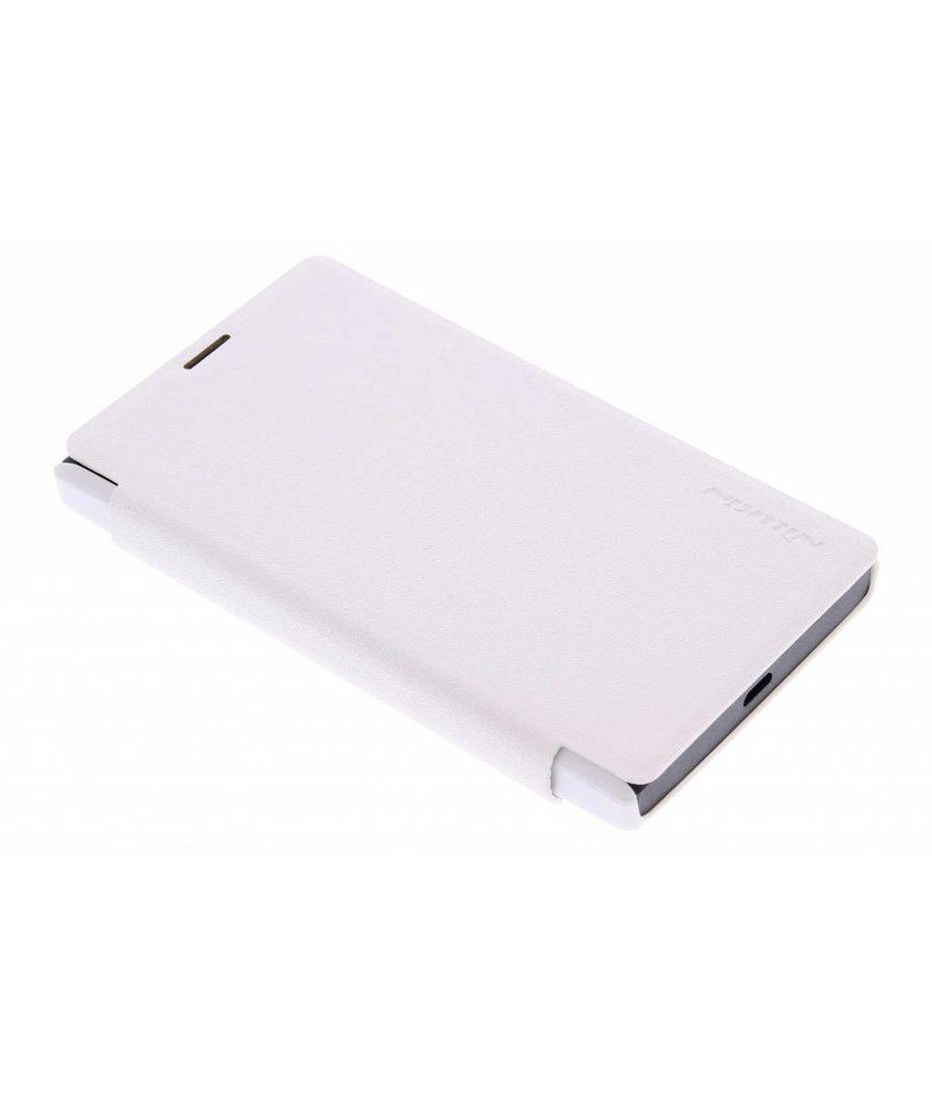 Nillkin Sparkle slim booktype Microsoft Lumia 435 - Wit