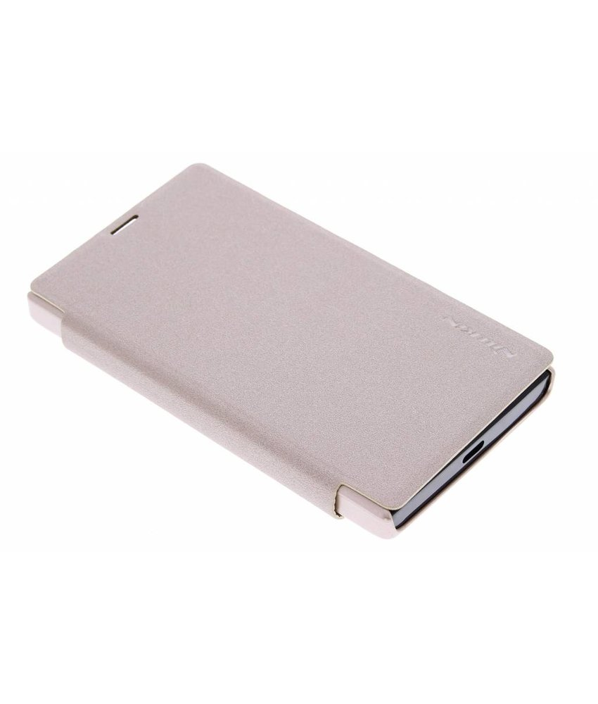 Nillkin Sparkle slim booktype Microsoft Lumia 532 - Goud