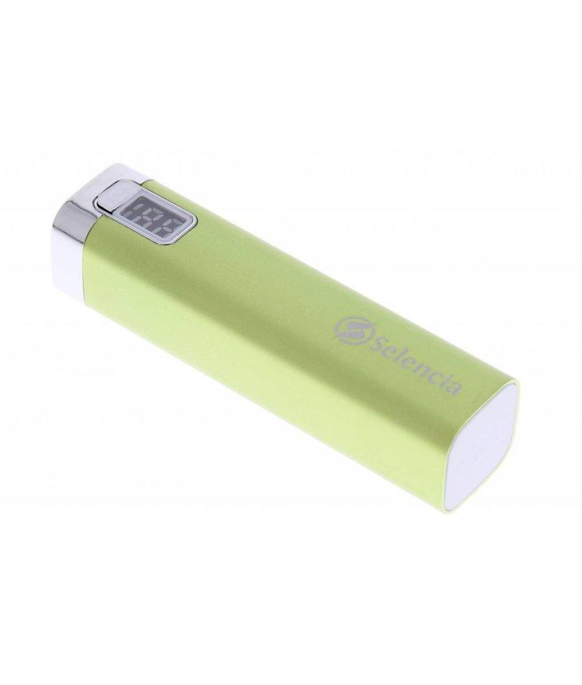 Selencia Universele powerbank 2600mAh - groen