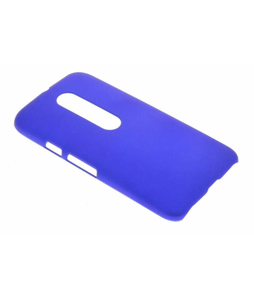 Blauw effen hardcase hoesje Motorola Moto G 3rd Gen