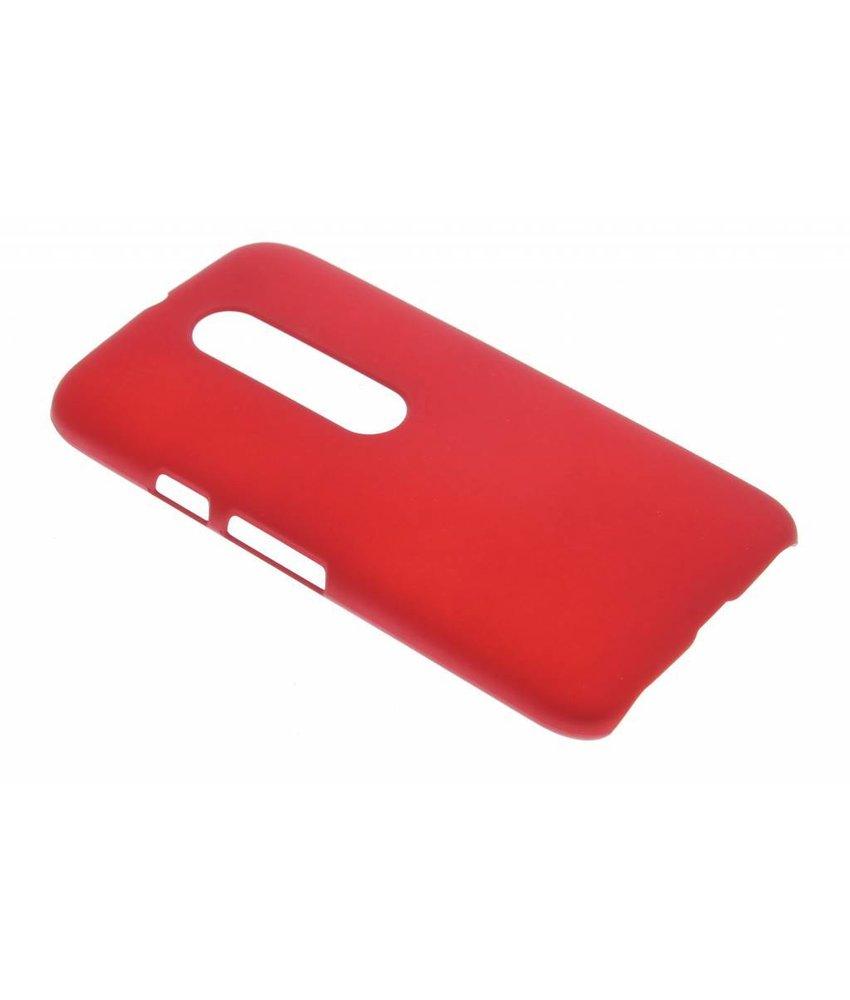 Rood effen hardcase hoesje Motorola Moto G 3rd Gen