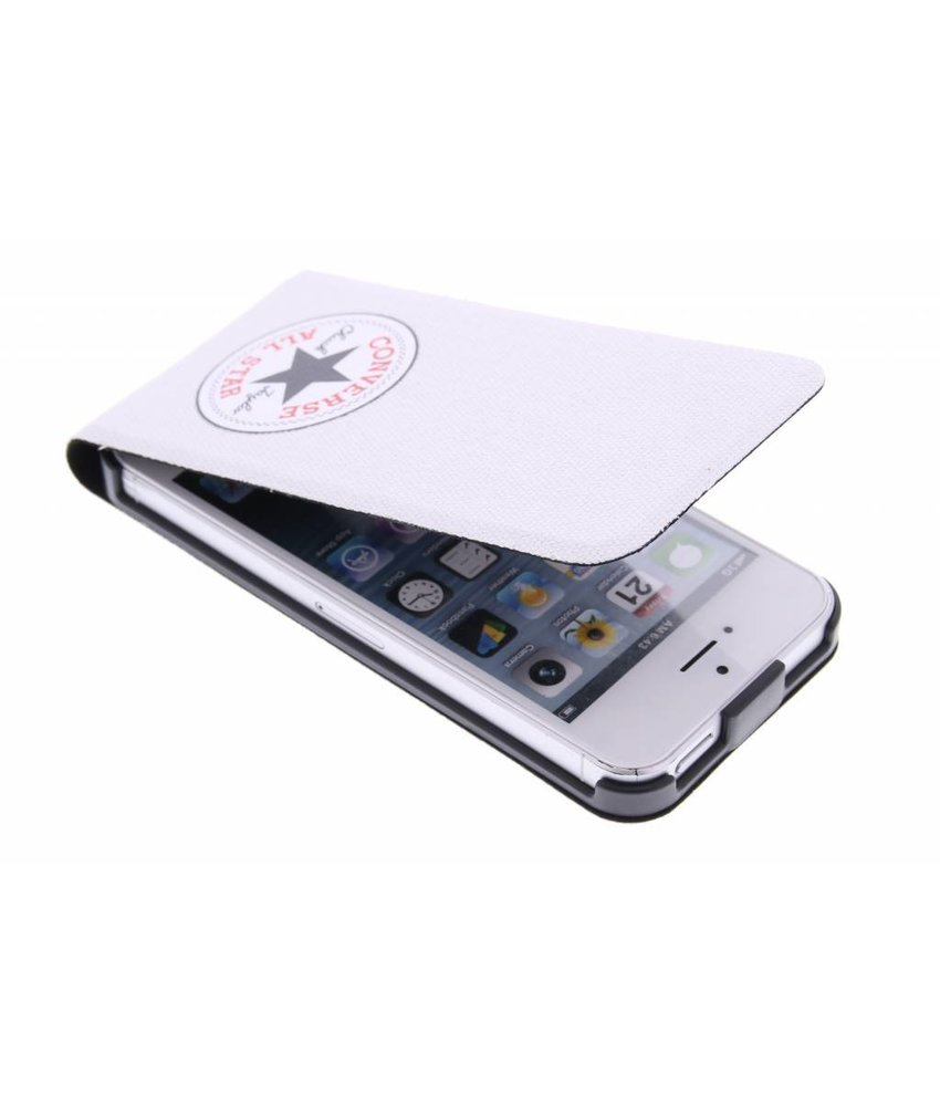 Converse Flip Case iPhone 5 / 5s / SE - Wit