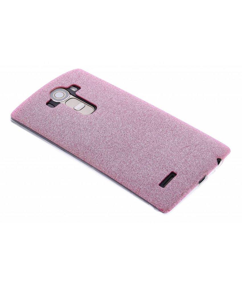 Roze glitter TPU siliconen hoesje LG G4